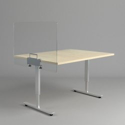 Bureauscherm met tafelklem